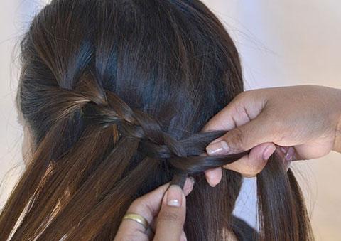 10 bước đơn giản bện tóc đài các 8