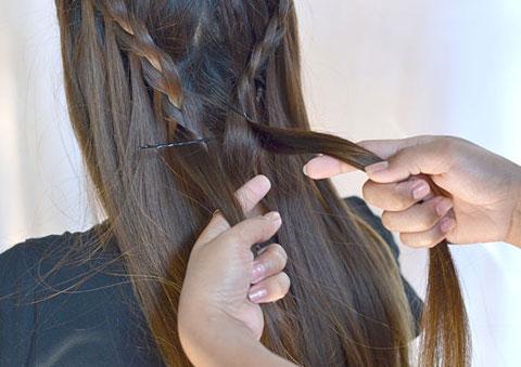 10 bước đơn giản bện tóc đài các 10