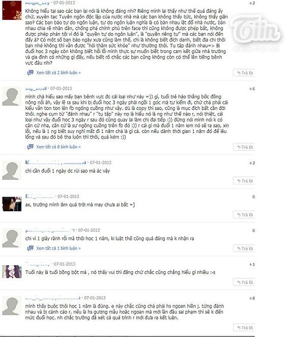 Vụ nữ sinh xúc phạm thầy cô trên Facebook: Hình phạt quá nặng? 3