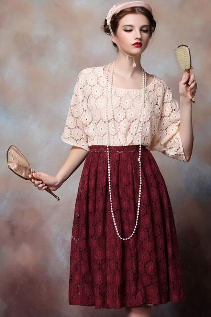 Xinh đẹp bất ngờ với váy xòe cổ điển 4