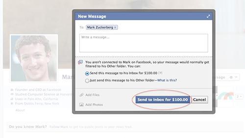 'Nói chuyện' với Mark Zuckerberg trên Facebook có thể tốn 100 USD 2