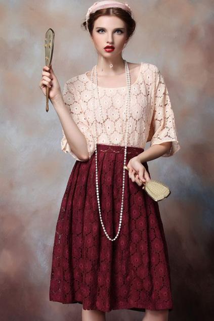 Xinh đẹp bất ngờ với váy xòe cổ điển 3