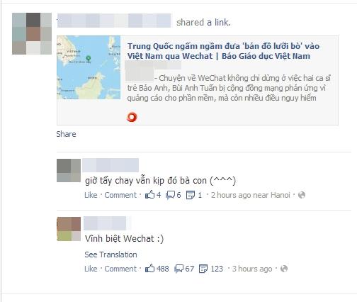 WeChat bị nhiều Sao Việt tẩy chay 11