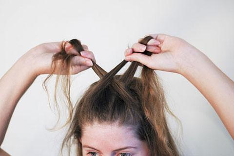 6 bước tết tóc đuôi cá dễ thương kiểu Pháp 4