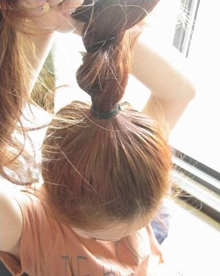 2 kiểu tóc điệu cho tóc ngang vai 3