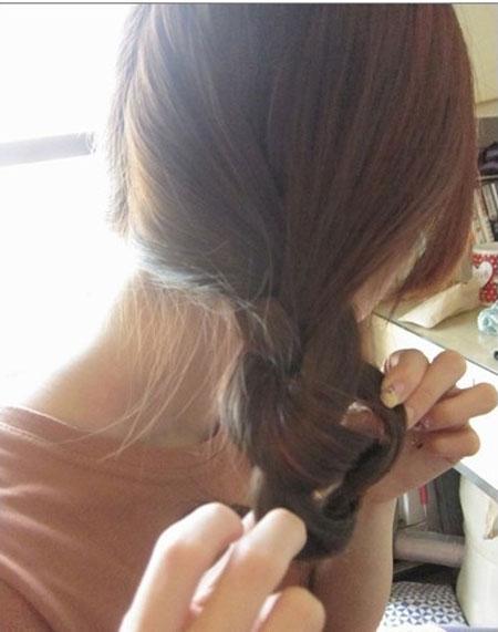 2 kiểu tóc điệu cho tóc ngang vai 13