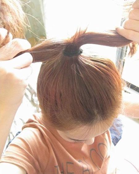 2 kiểu tóc điệu cho tóc ngang vai 1