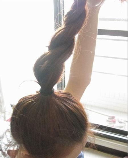 2 kiểu tóc điệu cho tóc ngang vai 4