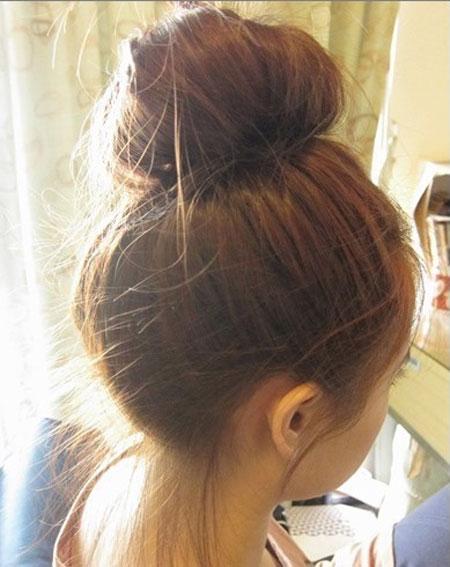 2 kiểu tóc điệu cho tóc ngang vai 7