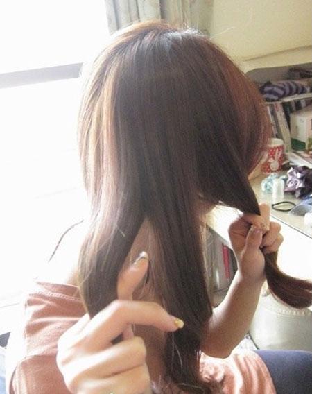 2 kiểu tóc điệu cho tóc ngang vai 9