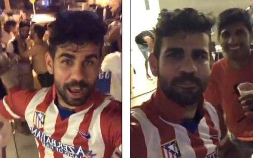 Diego Costa mặc áo Atletico, chọc tức ông thầy Conte