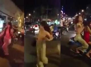 Hà Nội: Cô gái trẻ thản nhiên khỏa thân sải bước giữa phố đông