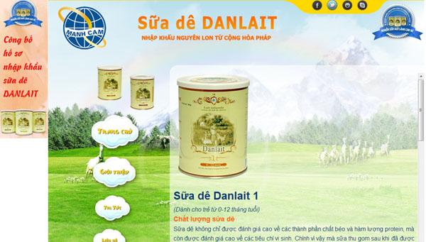 'Nghi án' sữa dê Pháp Danlait giả xuất hiện ở Việt Nam 1