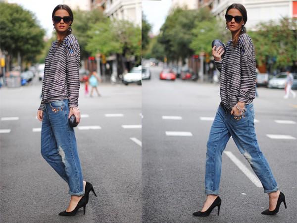 Bí quyết chọn quần jeans che khuyết điểm, tôn dáng người 9
