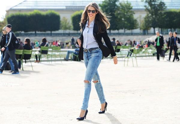 Bí quyết chọn quần jeans che khuyết điểm, tôn dáng người 3