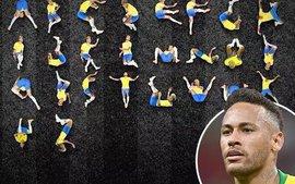 Đẳng cấp chế: 26 tư thế lăn lộn của Neymar thành bảng chữ cái
