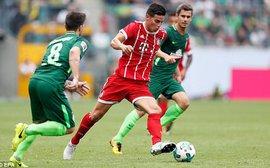 Tân binh James Rodriguez giúp Bayern bảo vệ thành công Telekom Cup