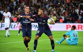 Neymar lập cú đúp, PSG hủy diệt Toulouse đánh chiếm ngôi số 1 Ligue 1