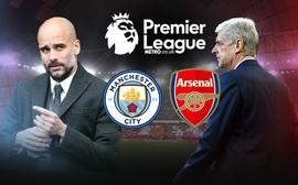 TRỰC TIẾP Man City - Arsenal: Chủ nhà tấn công như vũ bão