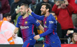 """Messi - Suarez chào mừng Coutinho bằng màn """"hạ sát"""" Levante"""