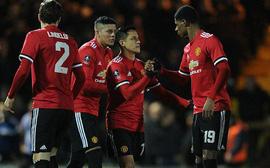 Tân binh Alexis Sanchez kiến tạo, Man Utd thắng đậm tại vòng 4 FA Cup