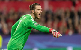 De Gea cứu thua siêu đẳng, Man Utd thoát thua trên sân của Sevilla