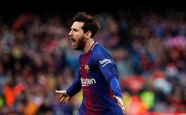 Messi ghi bàn thắng thứ 600, Barca băng băng tiến về đích