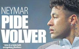 Neymar thừa nhận sai lầm, muốn trở lại Barca