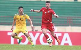 Thua đau phút bù giờ, SLNA mất ngôi đầu bảng ở AFC Cup 2018
