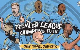 CHÍNH THỨC: Man City vô địch Premier League 2017/18 sớm 5 vòng