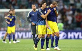 Cầu thủ Thụy Điển khóc nghẹn sau bàn thua đau phút bù giờ