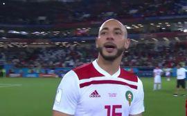 """Bị Tây Ban Nha gỡ hòa, sao Morocco cay cú """"chửi thẳng mặt"""" VAR trên truyền hình"""