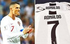 Rò rỉ áo đấu Juventus có in tên Ronaldo