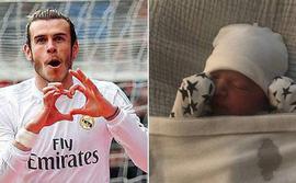 Gareth Bale cho con trai mới sinh mặc áo Champions League