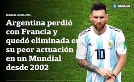 Báo Pháp ngỡ ngàng, truyền thông Argentina chết lặng sau kịch bản