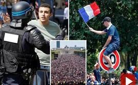 CĐV Pháp lại tấn công cảnh sát, gây náo loạn Paris ngay trước giờ G