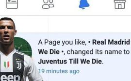 Hiệu ứng Ronaldo: trang mạng fan Real đổi tên, sang ủng hộ Juventus