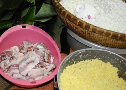 Cách gói bánh chưng hương vị Bắc ngày Tết 1