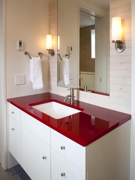 cbd42a6cachbaitriphongtamantuo Chia sẻ 6 cách bài trí phòng tắm ấn tượng với gam màu đỏ