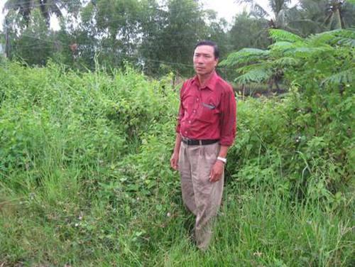Một thương binh bức xúc khiếu nại việc mất đất, mất cả chế độ chính sách