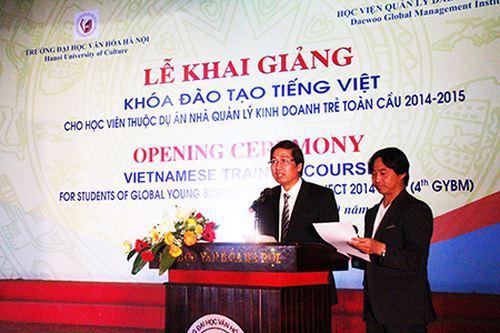 Đào tạo tiếng Việt cho học viên Hàn Quốc trong dự án