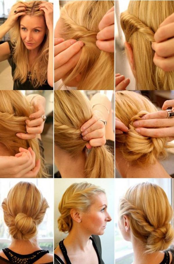 2 kiểu tóc vặn thừng duyên dáng khi mặc váy 4