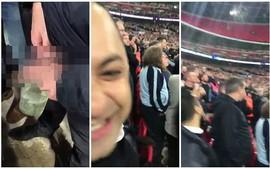 Sốc: CĐV Tottenham tè vào chai, ném sang cổ động viên đối phương