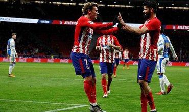 Griezmann ghi cả 4 bàn trong chiến thắng của Atletico Madrid