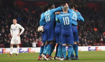 Thủng lưới 2 bàn trong 2 phút, Arsenal hú vía bước tiếp ở Europa League